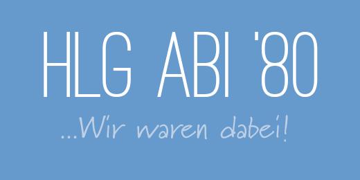 HLG-ABI80 - ... wir waren dabei!
